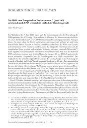 Die Wahl zum Europäischen Parlament vom 7. Juni - ZParl
