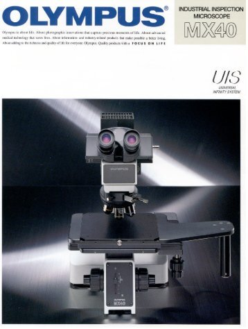 INDUSTRIAL INSPECTION MICROSCOPE - iOlympus