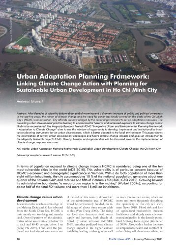 Urban Adaptation Planning Framework: Linking ... - Pacific news