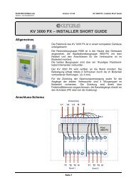 KV 3000 PX – INSTALLER SHORT GUIDE - Elektro Künzle AG