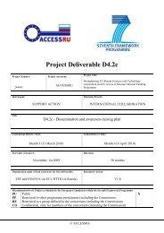 D4.2.c Dissemination and Awareness raising plan - Access4.eu