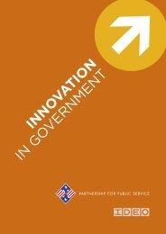 INNO VATION IN GO VERNMENT - Partnership for Public Service