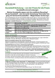 Kunststoff-Schulung – von der Praxis für die Praxis - RE-LOG AG