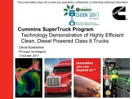 Cummins SuperTruck Program - Technology Demonstration ... - EERE