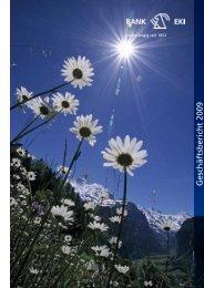 Geschäftsbericht 2009 - Ersparniskasse Interlaken