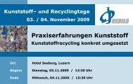 Praxiserfahrungen Kunststoff - REDILO GmbH