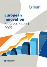 European Innovation Progress Report 2009 - PRO INNO Europe
