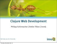 Agile Web-Entwicklung mit Clojure - XP day Germany