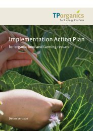 Implementation Action Plan - TP Organics