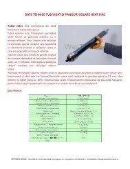 date tehnice tub vidat și panouri solare heat pipe - Solutiialternative.ro