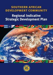 Regional Indicative Strategic Development Plan - Southern African ...