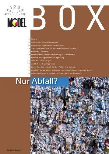 Nur Abfall? - Model Holding AG