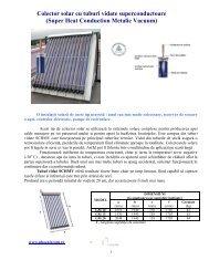 Colector solar cu tuburi SHCMV - phoenix panouri solare