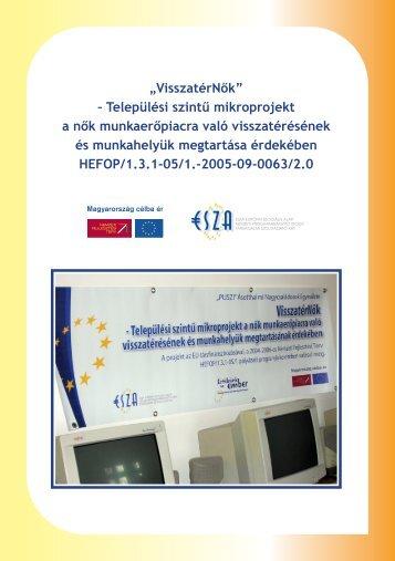 Települési szintű mikroprojekt a nők munkaerőpiacra való ... - Shp.hu