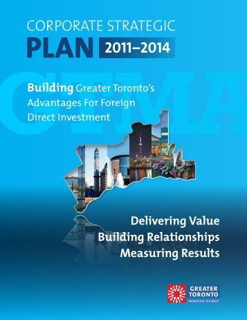 2014 Corporate Strategic Plan - Greater Toronto Marketing Alliance