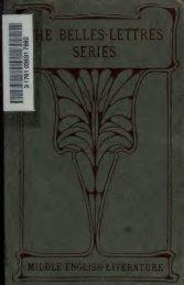 BELLES-LETTRES - Index of