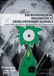 entrepreneuriat, innovation et développement durable