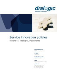Service innovation policies - rationales, strategies ... - Dialogic