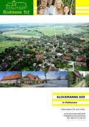 KLOCKMANNS HOF - baubiologisch ökologisches bauen lüneburg