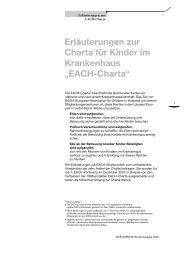 Charta für Kinder im Krankenhaus - AKiK