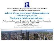 Medizinische Anforderungen - Deutscher Kinderschutzbund