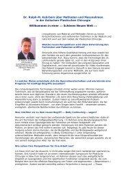 Schönen Neuen Welt - Dr. med. Ralph-M. Kehrbein