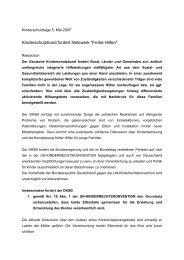 Kinderschutzbund fordert Netzwerk