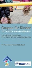 Gruppe für Kinder - Kinderschutzbund Ortsverband Stuttgart