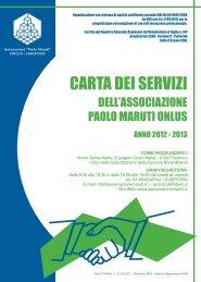 Carta dei servizi 2012-2013 - Associazione Paolo Maruti ONLUS