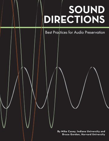 SOUND DIRECTIONS - Indiana University Digital Library Program