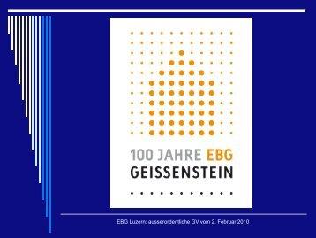 EBG Luzern: ausserordentliche GV vom 2. Februar 2010