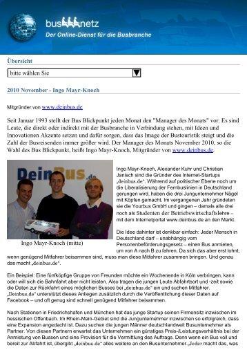 Übersicht bitte wählen Sie 2010 November - Ingo Mayr ... - Busnetz