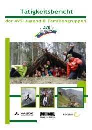 Tätigkeitsbericht AVS-Jugend 2012 - Alpenverein Südtirol