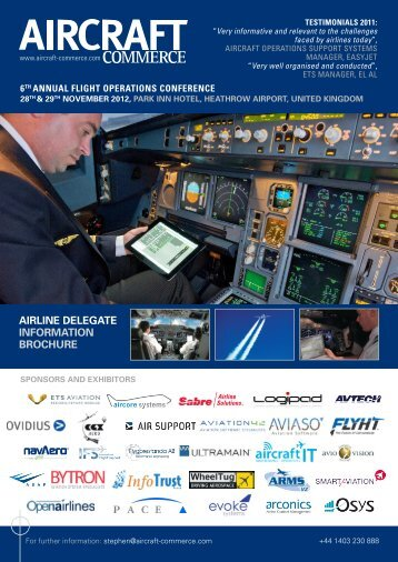to download the conference brochure - Aircraft Commerce