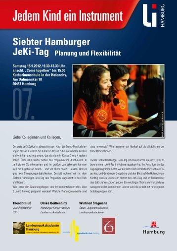 Siebter Hamburger JeKi-tag Planung und Flexibilität