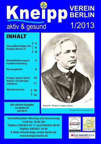 Programmheft - Kneipp-Verein Berlin eV