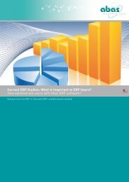 Current ERP Studies - ABAS Software AG