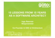 15 LESSONS FROM 15 YEARS AS A SOFTWARE ARCHITECT