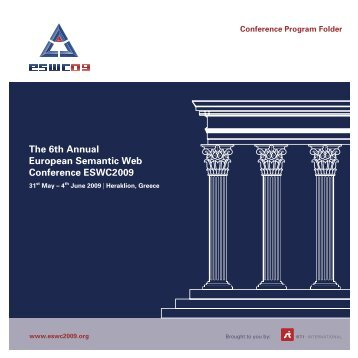 download the program brochure here - European Semantic Web ...