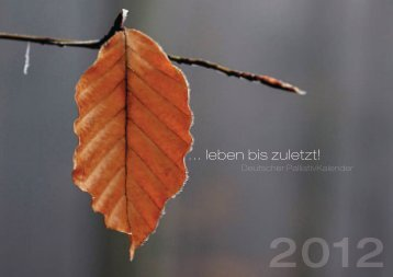 gelangen sie zum deutschen palliativkalender - Deutsche Palliativ ...