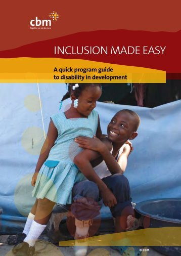 Inclusion Made Easy: A quick program guide to disability in ...