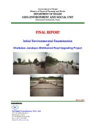 FINAL REPORT - About Department of Road