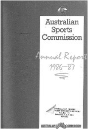 Australian Sports Commission Annual Report 1986-1987