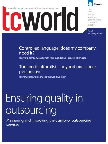 Ensuring quality in outsourcing - Tekom