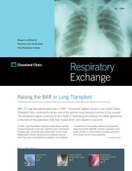 Respiratory Exchange 2008 - Cleveland Clinic
