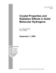 Crystal Properties and Radiation Effects in Solid Molecular Hydrogens