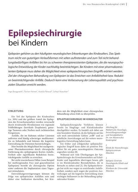 Epilepsiechirurgie - Hauner Journal