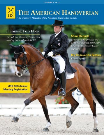 Summer 2012 - the American Hanoverian Society!