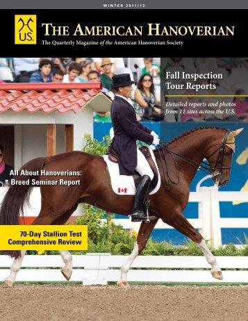Winter 2011/12 - the American Hanoverian Society!