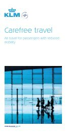 Carefree travel - KLM - Royal Dutch Airlines